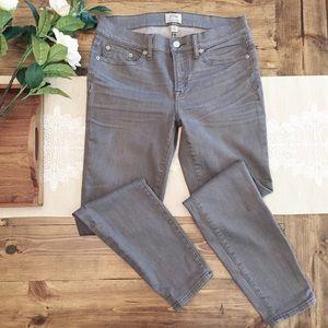 J. Crew Toothpick Jeans Gray Skinny Leg